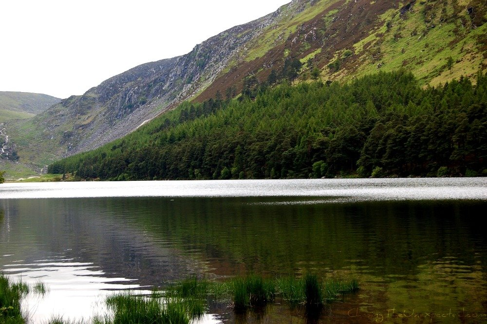 Glendalough lakes  Ireland   Chasing The Unexpected Beautiful lake in Glendalough  monastic settlement dating back to the Middle Age and now a heritage site  County Wicklow  Ireland